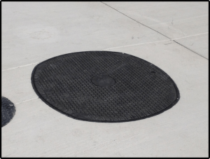 MwayPro Watertight Manhole Cover- in place